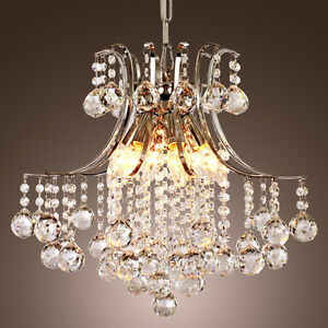 New Crystal Silver Chandelier, Free Delivery and Installation West Island Greater Montréal image 1