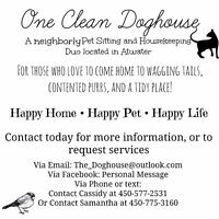 Pet Sitting AND Housekeeping