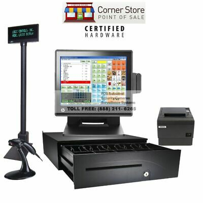 Retail All-in-one Complete Pos System Corner Store Pos With Hp 8gb I5 Ssd