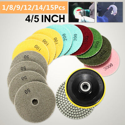 45 Diamond Polishing Pads Wetdry Kit For Granite Marble Stone Concrete Us