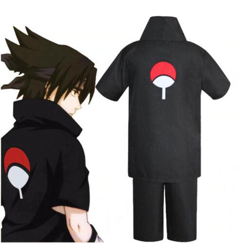 Uchiha Sasuke  Costume Full Set Black Uniform 2nd Generation Cosplay - Naruto
