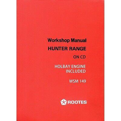 Hillman Hunter Workshop Manual WSM149 Sunbeam Rapier Fastback Coupe 6601331