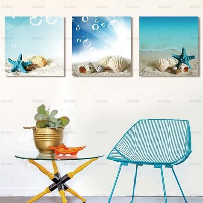 Starfish Shell Beautiful Wall Art Picture Sea Canvas Painting Home Decoration - Starfish Wall Art