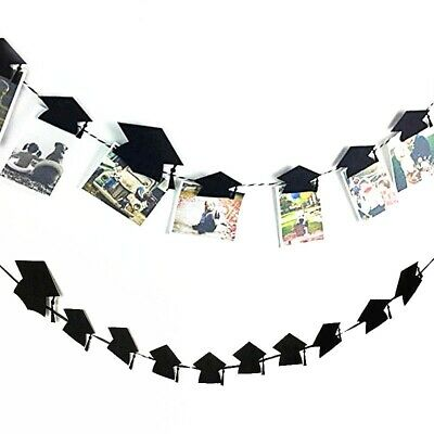 Graduation Party Decoration Bachelor Cap Hanging Photo Clip Decor Gift Supplies - Graduation Caps Decorated