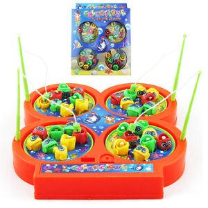 Magnetisch Fischteich Magnet Angelrute Spiel Kinder Elektrisch