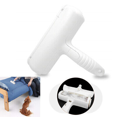 2-Way Pet Hair Remover Hair Removal Roller Dog Self Cleaning Dusting Brush New