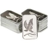 SilverTowne Bald Eagle 1oz .999 Fine Silver Bar LOT OF 20