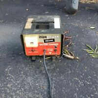 car batter charger and chainsaw