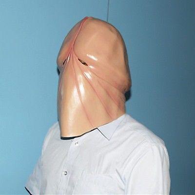 Penis Halloween Costume (Halloween Penis 3D Latex Mask Dick Head Prank Party Costume Prank Joking)