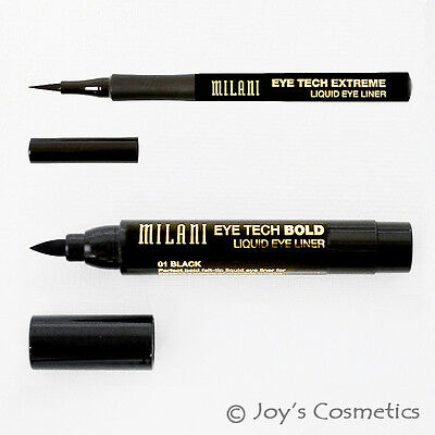 2 Milani Eye Tech Liquid Eyeliner Set    Mtb 01   Mte 01     Joys Cosmetics