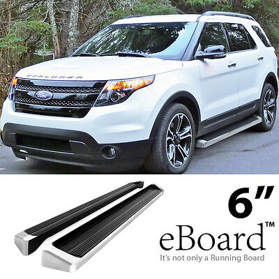 "eBoard Running Boards Aluminum 6"" For 2011-2016 Ford Explorer 4-Door SUV"