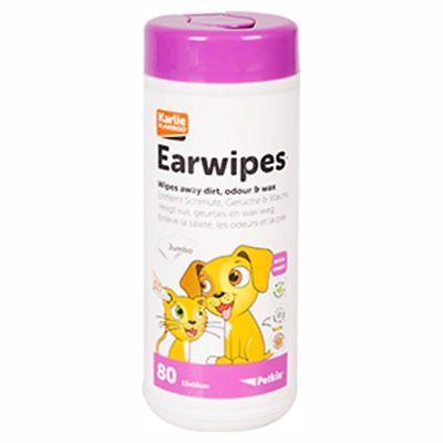 Karlie Flamingo Petkin EARWIPES - Ohren Pflege Reinigungstücher für Hunde/Katzen