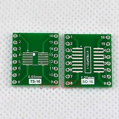 5pcs New Sosopsoicssoptssopmsop16 To Dip 16 Adapter Pcb Board Converter F04