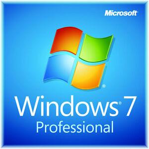 Windows 7 Pro avec licence autocollant et DVD + Win 10 gratuit