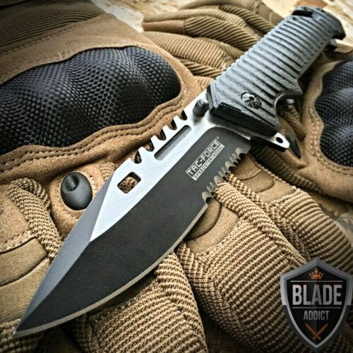 "8.5"" TAC FORCE SPRING OPEN ASSISTED TACTICAL FOLDING POCKET KNIFE Rescue Blade"