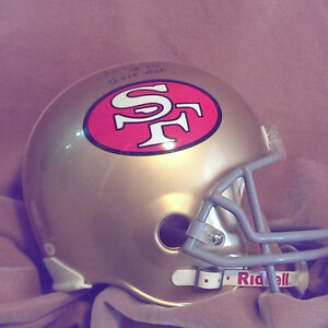 49er Helmet signed by Jerry Rice