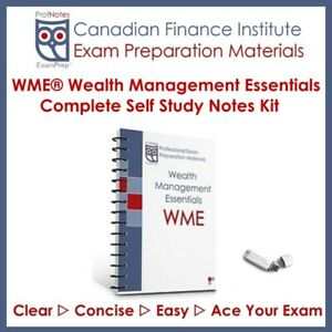 Wealth Management Essentials [WME] Exam Prep 2019 Vancouver Text
