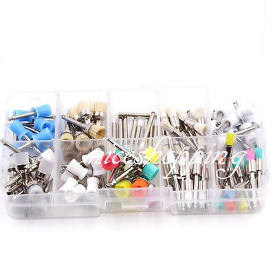 100 Pcs Dental Polishing Polisher Prophy Brush Cup Bowl 10 Type Nylon Rubber