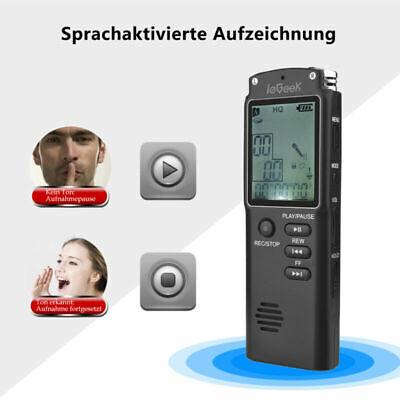 Mini 8GB Digitales Voice Recorder Diktiergerät LCD USB Aufnahmegerät MP3 Player