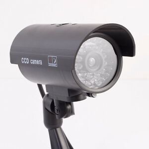 Flashing Light Dummy Security Camera Fake IR Red LED Surveillanc