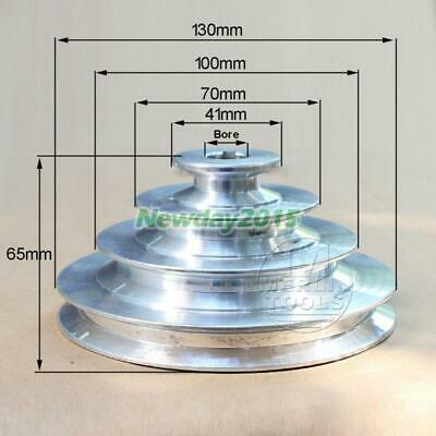 Od 130mm 4 Step Pulley 16mm Bore For 12 12.7mm Belt Width - Cast Aluminum