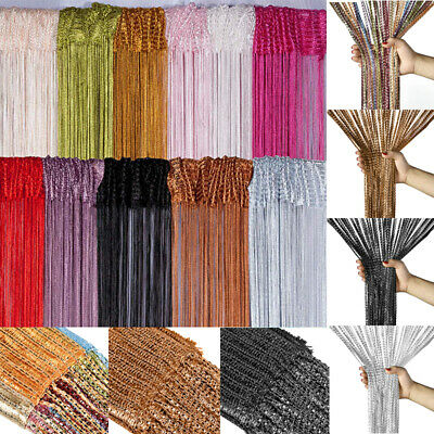 Beaded Door Curtains (US Tassel String Door Curtain Beads Room Dividers Beaded Fly Fringe Window)