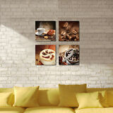 Framed Canvas Print Painting Pictures Poster Wall Art Home Decor Coffee Cafe