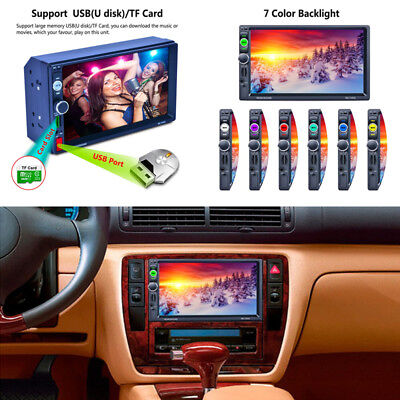 7 2Din Touch Screen Car Radio Stereo Mp5 Player  Gps Bluetooth Rds Mirror Link