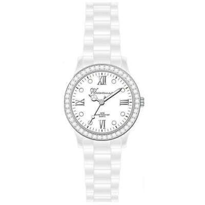 CRONOMAGIC orologio da polso donna policarbonato 1234b bianco brillantini nuovo