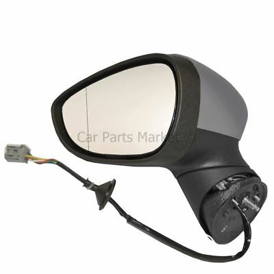 Primed Electric Heated Wing Door Mirror Unit Left NS for Ford Fiesta 2008 On