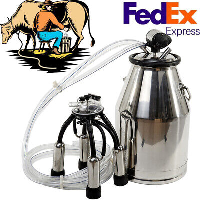 Adjustable Dairy Cow Bucket Tank Barrel Milker Milking Machine Stainless Steel