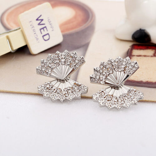 1 Pair Fashion Women Lady Elegant Crystal Rhinestone Ear Stud Earrings Charms