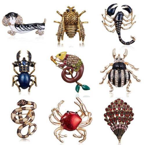 2b76d3681 Details about Vintage Summer Animal Dog Crab Bee Bugs Brooches Women Beetle Brooch  Pin Jewelry