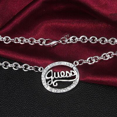 lskette Herz Silberschmuck guess S925 Geburtstagsgeschenk ok (Geburtstag Halsketten)