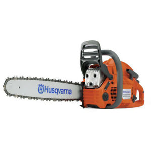 chain saw, scie mécanique Husqvarna 445e 45.7cc Gas Chainsaw,18p