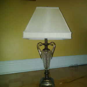 CLASSIC CRYSTAL LAMP $45.00