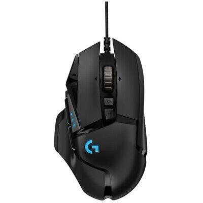 Logitech G502 HERO Gaming-Maus schwarz, kabelgebundene Maus