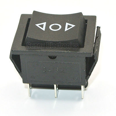 6-pin Dpdt Power Window Momentary Rocker Switch Ac 250v16a On-off-on Switch