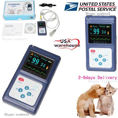 Us Seller Veterinary Pulse Oximeter Spo2 Heart Rate Monitor Vet Eartongue Probe
