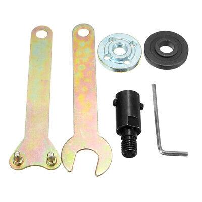 Drill Angle Grinder Mandrel Adapter Disc Holder Spanner Set M10/10mm Shank