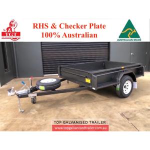 7x5 Trailer Fully welded with Brake 1400Kg ATM Australian Made 9 Leaf Healesville Yarra Ranges Preview