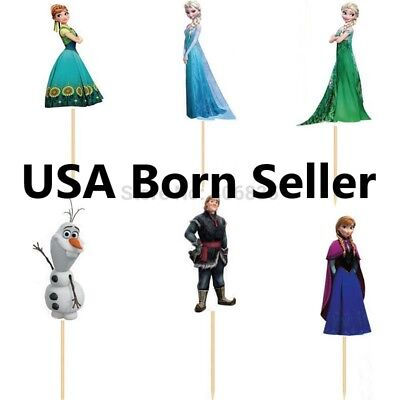 12 Pieces Cupcake Topper Cake Picks ELSA FROZEN