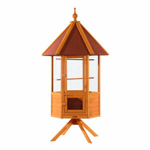 """78.7""""Large Bird Cage Aviary Cockatoo Parrot Finch Pet Cage House"""