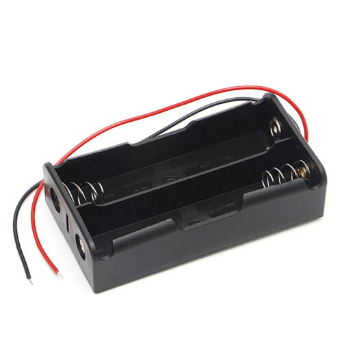 5 Pcs 2x18650 3.7V Rechargeable Battery Clip Holder Box Case With Wire Lead