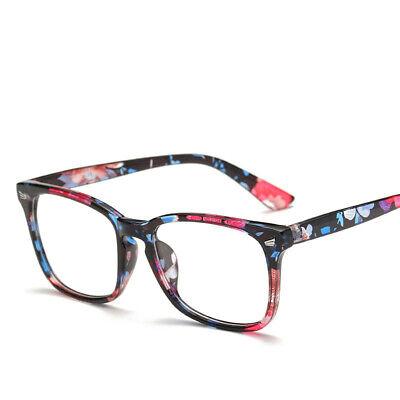 Fashion Square Frame Clear Lens Plain Glasses Men Women Eyeglasses (Plain Lense Glasses)