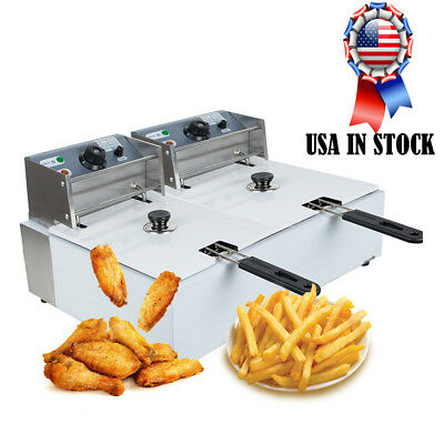 5000w 11l Double Baskets Commercial Deep Fryer Fast Food Electric Fryer Usa