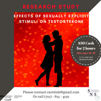 Research Study-sexual stimuli, testosterone, & social perception