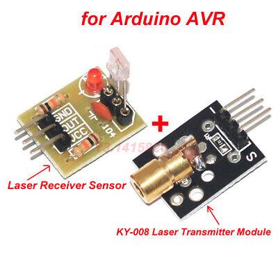 Laser Receiver Sensor Module Ky-008 Laser Transmitter Module For Arduino Avr