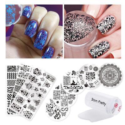 10Pcs Set Born Pretty Fashion Nail Art Stamping Plates   Stamper   Scraper Tools