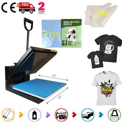 Clamshell Heat Press Machine 110pcs Sublimation Transfer Paper Vinyl T-shirts